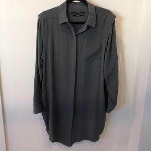 All saints silk shirt dress. Size 10.